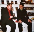 Leipziger Buchmesse 2004: Andreas Eschbach und Frank Festa im Gespräch